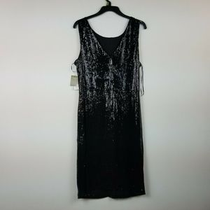 Taylor Size 16 Black Sequin Dress 6AC18